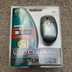 Logitech V200 Cordless notebook 2.4ghz Mouse - Silver  NEW SEALED🔥🔥