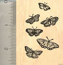 Butterfly Cluster Rubber Stamp J4711 WM