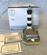 Bodie Island Lighthouse Nc #159 Harbour Lights 1996 Coa Figurine Nib