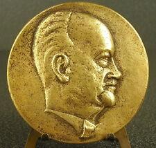 Médaille profil d'un inconnu signé R Blodet 70 mm 177 g Medal