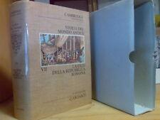 Storia del Mondo Antico - LA CRISI DELLA REPUBBLICA ROMANA - vol. VII - 1975