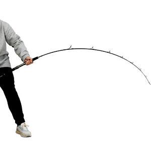 WEIZ Double Armors 1.80M Spin Jigging Fishing Rod 2Pcs Overhead Rod NEW