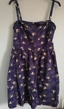 INSPIRE NEW LOOK SIZE 26 SKATER/SWING DRESS WITH BIRD PRINT 100% COTTON