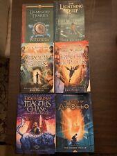 6 Percy Jackson Books Rick Riordan Apollo Lightning Thief Disney Hidden Oracle