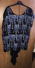 Limited Edition Trail Back Asymmetrical Top Atmosphere Size 18. Sheer Back. Vgc