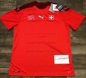 SWITZERLAND Puma Home Football Shirt 2020-2021 Jersey Schweiz Suisse Large Socce