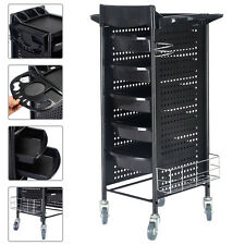 "40"" Beauty Salon Spa Styling Station Trolley Equipment Rolling Storage Tray Cart"