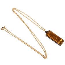 Mini Gold Metal Durable 4 Hole 8 Tone Necklace Harmonica  Beautiful New