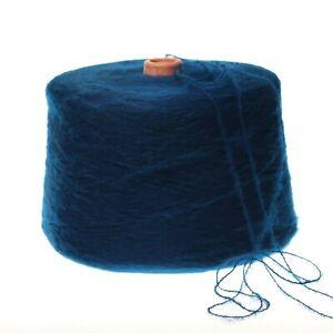 (19,90€/kg) Mohair blau marine Strickwolle Strickgarn Kone Garn Häkeln /Y4b