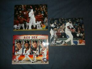3 BOSTON RED SOX David Ortiz 8x10 Photos Picture Schilling Pedro Martinez 2004