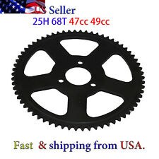 68 Teeth Rear Sprocket for 25H 6mm Chain 47cc 49cc Mini Pocket Quad Bike