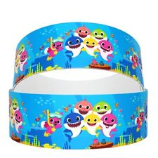 "3"" Inch Baby Shark Grosgrain Ribbon - BS05"