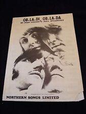 Partition Ob la di ob la da Beatles John Lennon Paul Mc Cartney Music Sheet