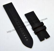 Comp. Emporio Armani AR0527 AR0593 AR0532 - 23mm Black Rubber Watch Band / Strap