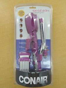 New Conair Styling Kit - Straightens, Crimps, Waves, Curls - Purple