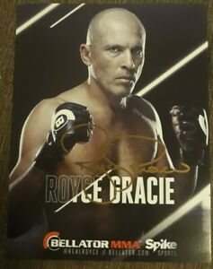 Authentic!Royce Gracie Signed Bellator Promo Autograph Photo Coa