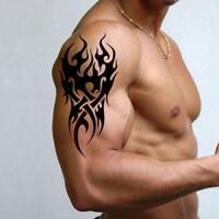 Removable Men's Temporary Tattoo Waterproof Totem Body Arm Leg Art Sticker PRO_,
