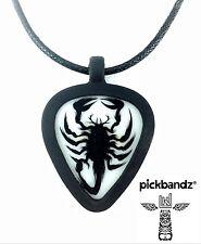 GUITAR PICK Necklace by Pickbandz PICK HOLDER in Black w/ LIMITED Scorpion pick