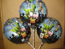 "3 x TOY STORY 9"" 23cm FOIL BALLOONS + STICKS PARTIES PARTY BOYS GIRL DISNEY FILM"