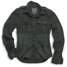 Surplus Raw Vintage Ejército Militar Estilo Camisa de Manga Larga Verano Algodón