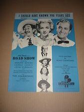 """Road Show"" 1941 película Partitura (Adolphe menjou/carole landis/john Hubbard (1)"