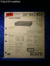 Sony Service Manual CDP M43 / M54 CD Player (#0808)
