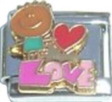 Italian Charm Love red heart Kid Family Grand Child