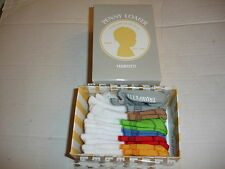TRUMPETTE Penny Loafer Baby Socks 0-12M 6 Pairs Unisex Gift NIB