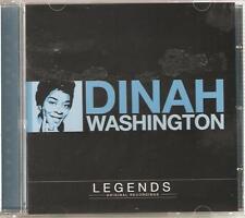 DINAH WASHINGTON LEGENDS CD ORIGINAL RECORDINGS - CRY ME A RIVER & MORE