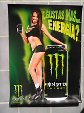 Sexy Girl Dorm Poster Monster Energy Drink ~ Beautiful Latina Woman w/ Slit Top