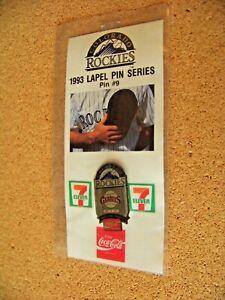 1993 Colorado Rockies 7-11 Coca-Cola pin #9, SF San Francisco Giants