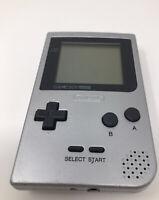NINTENDO Gameboy Pocket Silver Platinum Handheld System MGB-001 TESTED Working