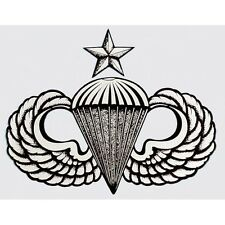Us Army Airborne Senior Parachute Wings Sticker - Made In The Usa!