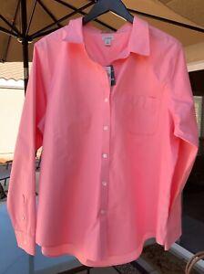 L.L.BEAN Wrinkle Resistant 100% COTTON Button Front Collar Long Sleeve Shirt XL