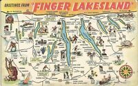 Finger Lakes, NEW YORK - MAP