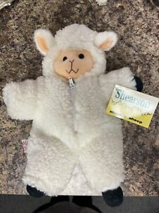 """NOS Vintage 1992 MARY MEYER 10"""" PLUSH LOVEY Shear a LAMB SHEEP W Removable Coat"""