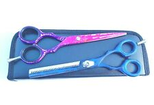 PROFESSIONAL BARBER HAIR CUTTING+THINNING SCISSORS BARBER SHEARS SET 6.5""