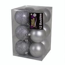 Décorations de sapin de Noël boules argentées