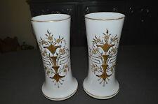 Superb Pair of Vase Opaline Enamelled Age End 19 Rd