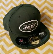 NEW YORK JETS Green NEW ERA 59Fifty FITTED 7 1/4 HAT CAP MENS ADULT NFL ON-FIELD
