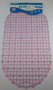Pink Bathroom Anti-Slip Mat 27x15 Soft Tub Bath Shower Dotted Bubble Cushion