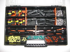 10 x AMP Superseal-Stecker 2+3-polig + Gummitüllen für Auto Motorrad Moto Guzzi
