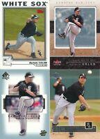 Lot of 4 different Bartolo Colon Chicago White Sox baseball cards