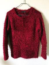 Red Fuzzy Eyelash Jumper Sweater England Sex Pistols Punk Goth Grunge