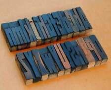 "A-Z alphabet 2.83"" letterpress wooden printing blocks wood type vintage printer."