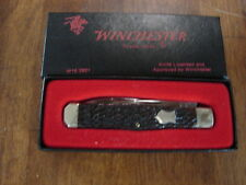 Vintage Winchester W 15 2921 2 Blade Gunstock Jack Knife Rogers Bone Handle new