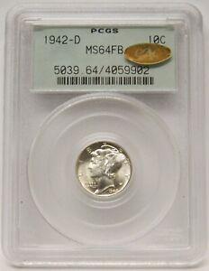 1942-D Mercury Dime PCGS MS64FB OGH Gen 3.0 Gold CAC