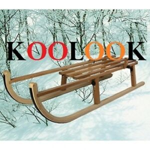 Folding Wooden Toboggan Foldable Sledge KOOLOOK THE BEST PRICE - FAST SHIPPING !