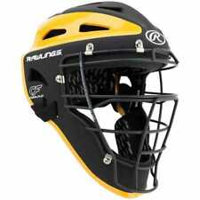 New Other Rawlings Sporting Goods Catchers Helmet Velo Series Adult Black/Yellow