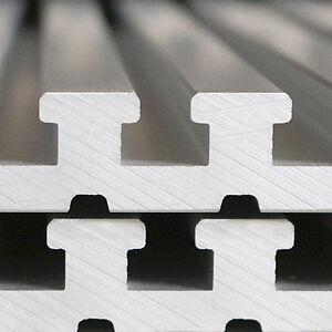 T-Nutenplatten Aluminium 20mm massiv versch. Breiten und Längen